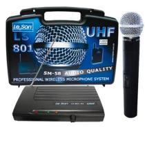 Microfone de Mão Sem Fio LS801HT UHF SM58 - Leson - Leson