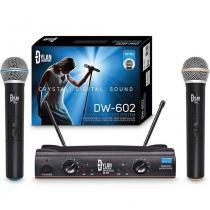 Microfone dylan dw-602 sem fio uhf duplo - Dylan