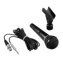Microfone metalico preto sm58 b - resposta de frequencias 50hz a 15 khz - impedancia baixa 250 ohm - Leson