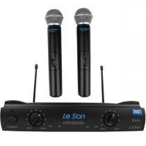 Microfone s/ Fio de Mão Duplo UHF LS-902 HT-HT - Le Son - LeSon