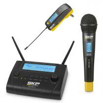 Microfone s/ fio de mão e transmissor - multiset iii skp - Skp