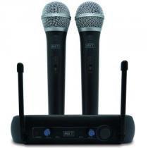 Microfone Sem Fio Profissional Duplo Uhf Tipo Shure - Mxt Uhf-202