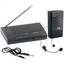 Microfone sem fio skp headset vhf855, alcance 50m em espaco aberto - Skp