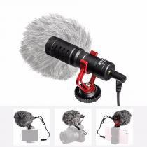 Microfone Shotgun Boya BY-MM1 para Câmeras e Smartphone -