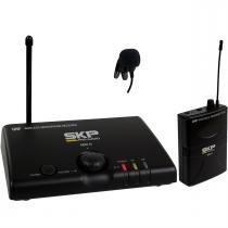 Microfone Wireless Sem Fio Uhf De Lapela Mini-Iii Bivolt Skp - Skp