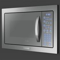 Microondas de Embutir com Painel Blue Touch e Função Tira-odor com Acessórios Crispy e Rack Grill (MB43T) - Electrolux
