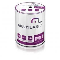 Midia DVD-R Vel. 16X - 100 Un. Shrink - DV037 - Neutro - Multilaser