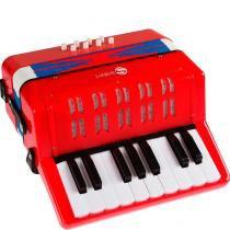 Mini Acordeon Infantil C/ 8 Graves - Shiny Toys - Shiny Toys