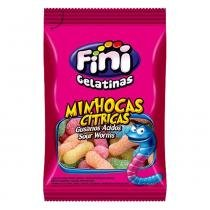 Mini Bala de Gelatina Minhoca Cítrica 15g c/12 - Fini -