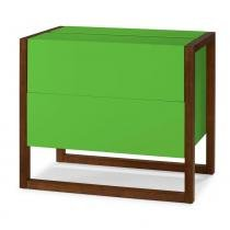 Mini Bar Winter Cor cacau Com Verde - 29502 - Sun House