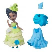 Mini Boneca com Vestidos - Disney Princesas - Little Kingdom - Tiana - Hasbro - Hasbro