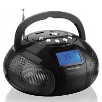 Mini Boombox 10W RMS MP3, FM, USB, SD, AUX Preto SP145 - Multilaser -