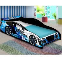 Mini Cama Carro Drift Infantil - Azul - JA Móveis