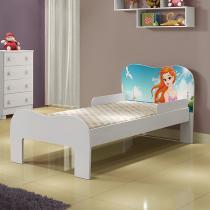 Mini Cama Infantil Soneca com Desenho Sereia Tigus Baby Branco -