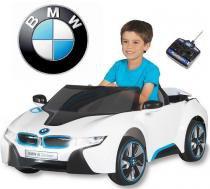 Mini Carro Elétrico BMW I8 Controle Remoto 6V Branco - Belfix -
