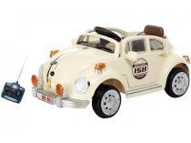 Mini Carro Elétrico Infantil Fusca - com Controle Remoto Emite Sons Bel Brink