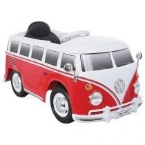 Mini Carro Elétrico Infantil Kombi - com Controle Remoto 2 Marchas Bandeirante