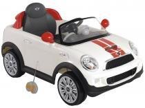 Mini Carro Elétrico Infantil Mini Cooper - com Controle Remoto 2 Marchas Emite Sons Kiddo