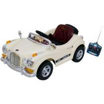Mini Carro Elétrico Infantil Retrô - com Controle Remoto Emite Sons Bel Brink