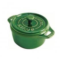 Mini cocotte de cerâmica redonda Staub verde 10 cm - 14119 -