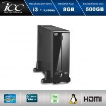 Mini Computador ICC SL2381D Intel Core I3 3.10 ghz 8GB HD 500GB DVDRW HDMI FULL HD -