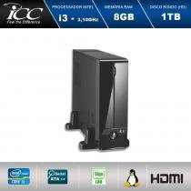 Mini Computador ICC SL2382S Intel Core I3 3.10 ghz 8gb HD 1TB HDMI FULL HD -
