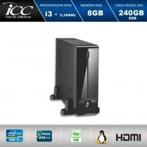 Mini Computador ICC SL2387S Intel Core I3 3.10 ghz 8gb HD 240GB SSD HDMI FULL HD -