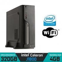 Mini CPU Intel Dual Core, 4GB, HD 320Gb, Wifi com HDMI - Alfatec