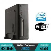 Mini CPU Intel Dual Core, 4GB, HD 320GB, Wifi com Serial e Paralela - Alfatec