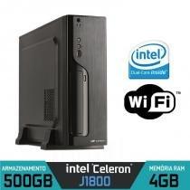 Mini CPU Intel Dual Core, 4GB, HD 500GB, Wifi com HDMI - Alfatec