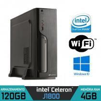 Mini CPU Intel Dual Core, 4GB, SSD 120GB, Windows 7 com Wifi e Serial - Alfatec