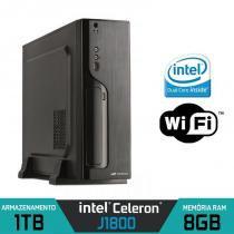 Mini CPU Intel Quad Core, 8GB, HD 1TB, Wifi com HDMI - Alfatec