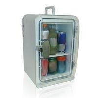 Mini geladeira quente e frio bivolt prata para 15 latas portátil - Polar