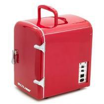 Mini Geladeira Retrô 4 Litros 12V Vermelha Bivolt Tv007 Multilaser -