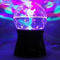 Mini globo giratório 3 leds rgb strobo projetor holográfico ds2242 - Wmt