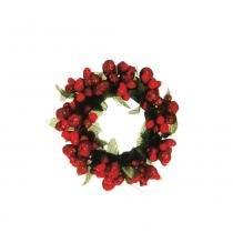 Mini Guirlanda Decoração Natal 6cm Vermelho - Cromus