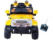 Mini Jipe Trilha a Pedal Infantil  com Controle Remoto Emite Sons Farol Bel Brink 12V