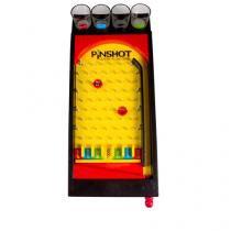 Mini Jogo Pinball com Copos de Shot - Amarelo - Único - Gorila Clube