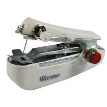 Mini Máquina de Costura Portátil Manual Pequenos Reparos Tecidos - 4189 - Western