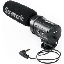 Mini Microfone Condensador Saramonic SR-M3 com Montagem Integrada Shockmount -