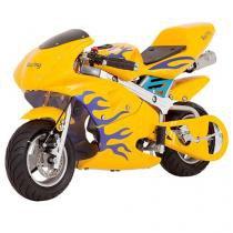 Mini Moto à Gasolina e à Òleo Bull Motors - Bull Kids BK-R6S 49cc Freio à Disco