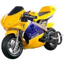 Mini Moto à Gasolina e à Óleo Bull Motors - Speed BK R6 49cc Freio à Disco
