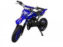 Mini Moto Cross 49cc BZ Arena Azul automática partida a corda, gasolina óleo 2 tempos BARZI MOTORS - Barzi Motors