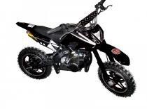 Mini moto cross 49cc bz arena preta automática partida a corda, gasolina óleo 2tempos barzi motors -