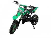 Mini moto cross 49cc bz arena verde automática partida a corda, gasolina óleo 2tempos barzi motors - Barzi motors