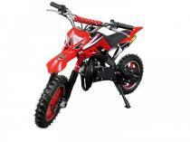Mini moto cross 49cc bz arena vermelha automática partida a corda gasolina óleo 2tempos barzi motors -