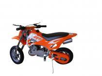 Mini Moto Cross 49cc BZ Fire Laranja automática partida a corda, gasolina óleo 2tempos Barzi Motors -