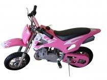 Mini moto cross 49cc bz fire rosa automática partida a corda, gasolina e óleo 2tempos barzi motors - Barzi motors