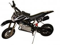 Mini Moto Cross 49cc BZ Vento Preta automática partida a corda, gasolina e óleo 2tempos Barzi Motors -