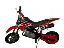 Mini Moto Cross 49cc BZ Vento Vermelha automática partida a corda gasolina óleo 2tempos Barzi Motors -